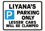 LIYANA'S Personalised Parking Sign Gift | Unique Car Present for Her |  Size Large - Metal faced